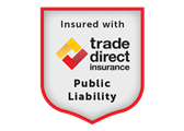 Trade Direct Insurance Public Liability Badge