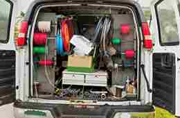 Tools And Stock In Van